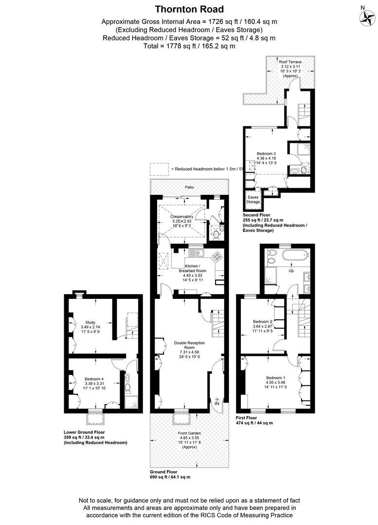 Floorplan for Thornton Road, Wimbledon Village